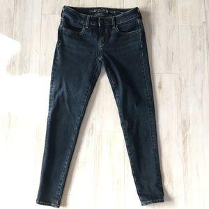 AEO Dark Indigo Super Stretch X4 Jegging Jeans
